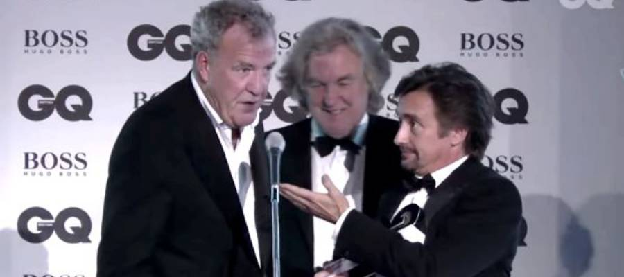 The Grand Tour Trio win TV Personalities of the Year award