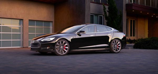 Tesla Model S all-electric vehicle
